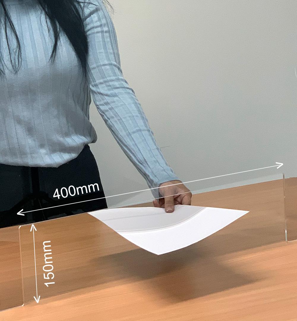 Spuckschutz Groß für Rechtecktheke 100 x  88,5 cm