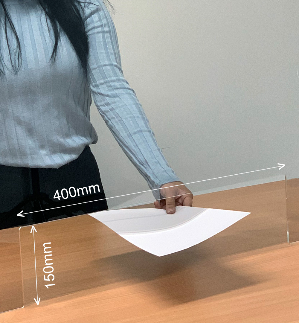 Spuckschutz Groß für Rechtecktheke 80 x  88,5 cm