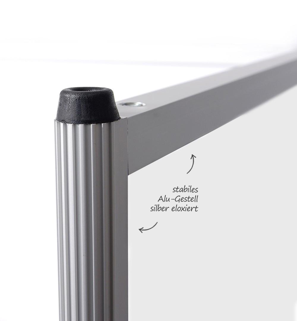 Messestand Faltwand Textil Evolution - Thekengestell