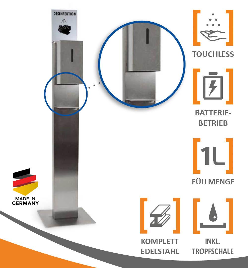 Desinfektionsständer Steel mit Sensor