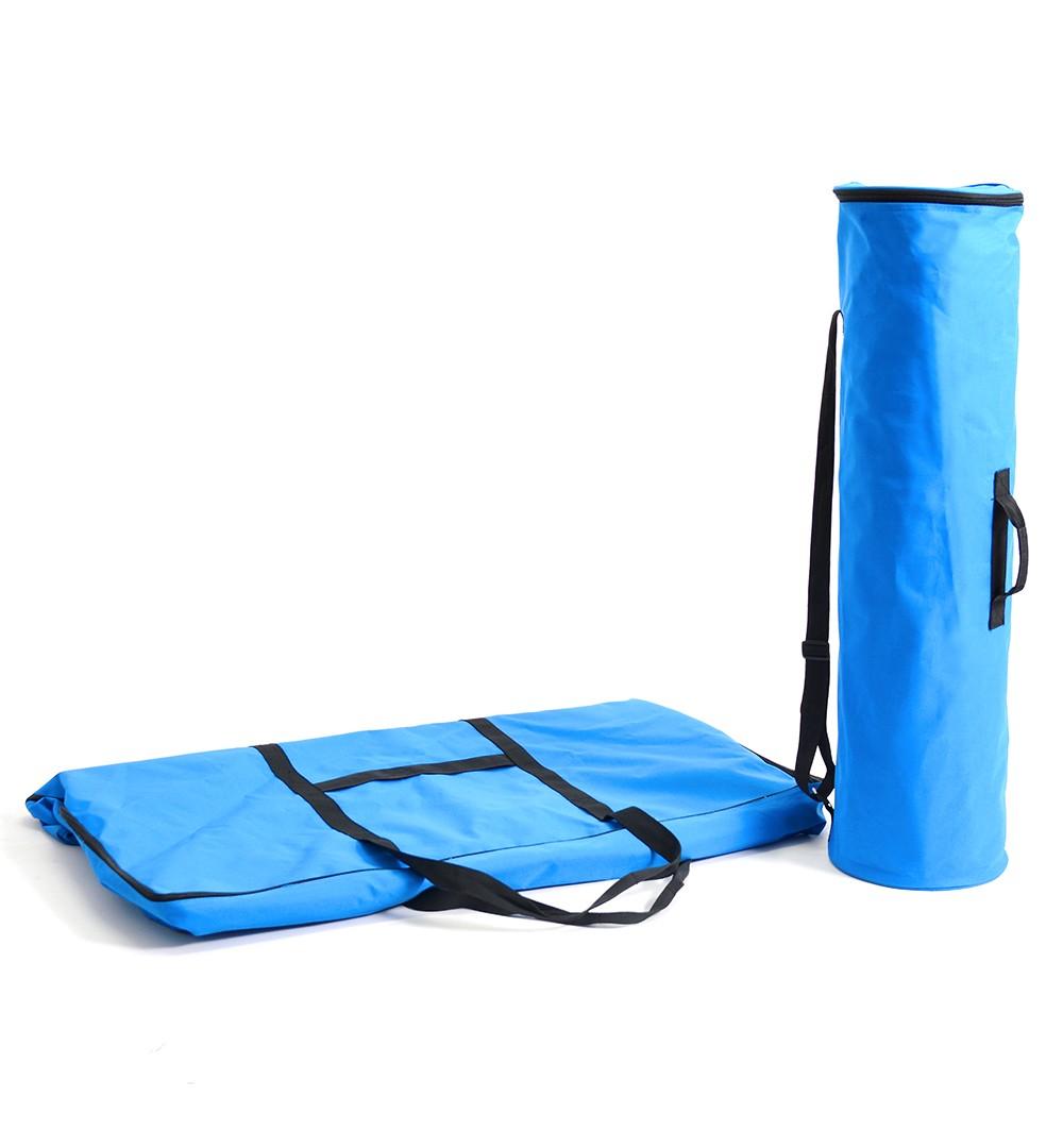 Messestand Faltwand Textil Evolution - Countertheke Transporttaschen