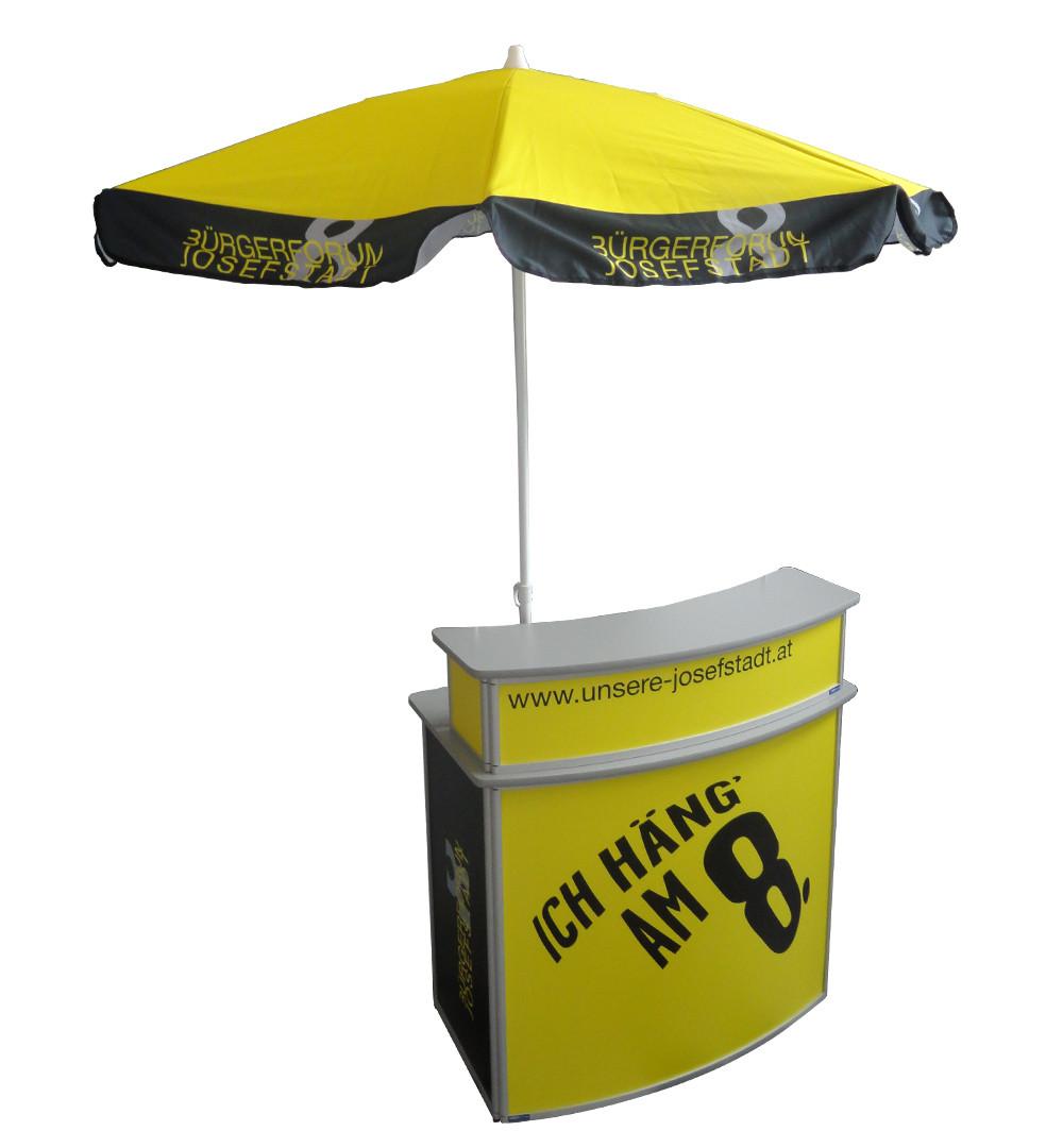 Schirm für Theke