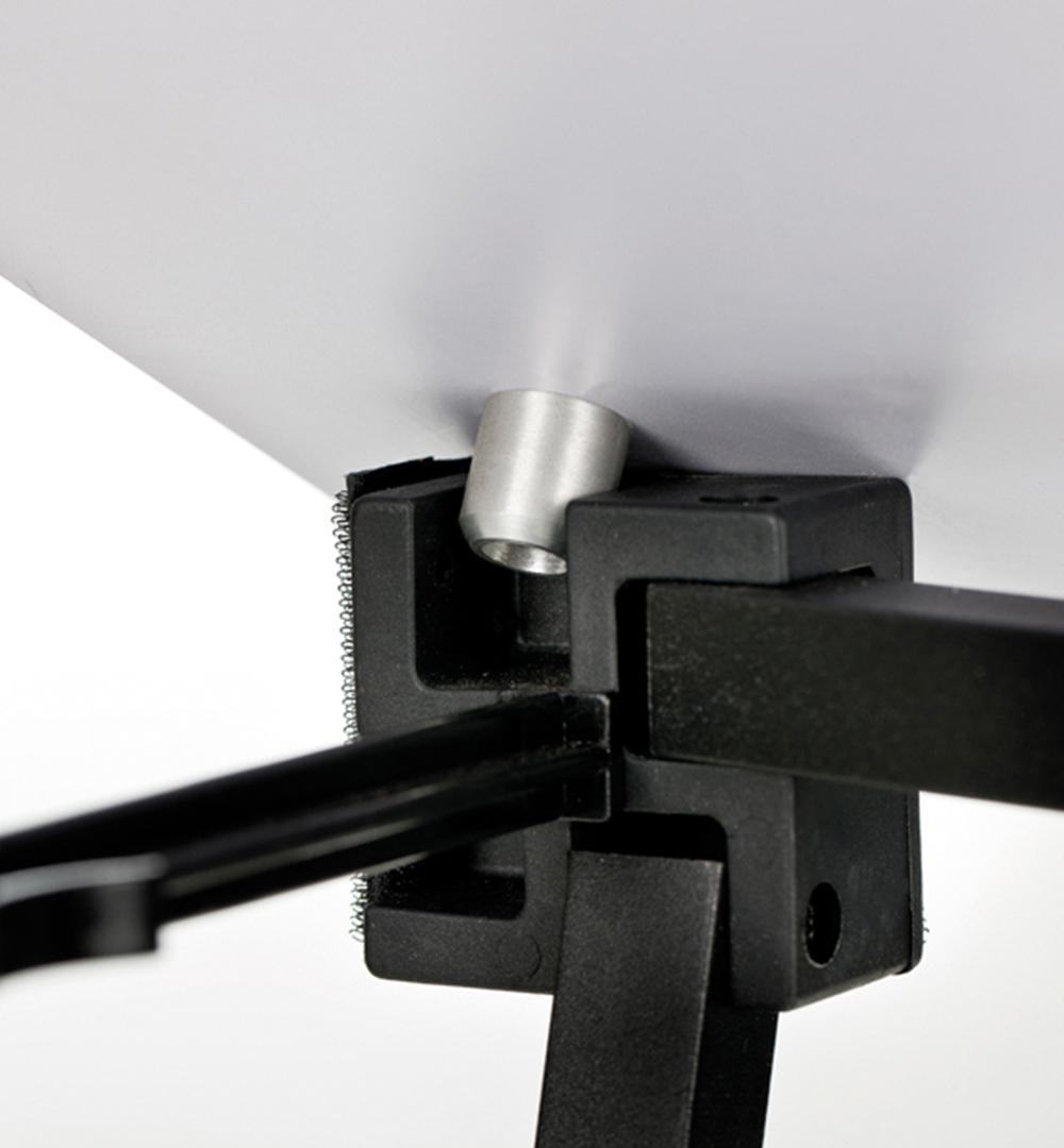 Textil Falttheke Rechteck - Aufsetzen Thekenplatte