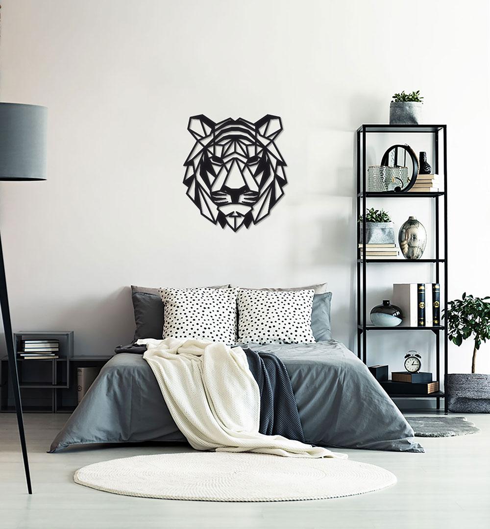 Wall Art Acryl Polygon Tiger