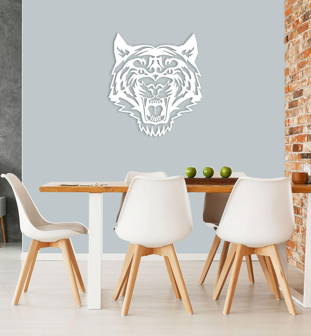 Wall Art Acryl Polygon Tiger Roar