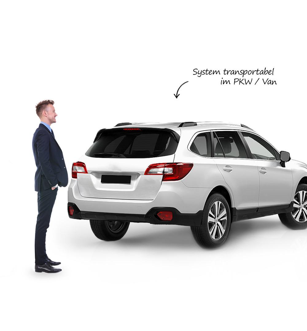 Messestand Multi-Frame - Transport