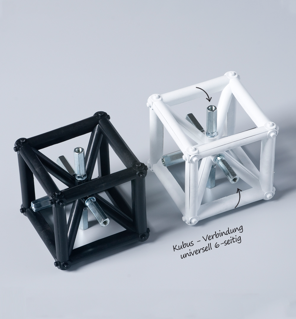 Traversensystem Elemente - schwarz, weiß