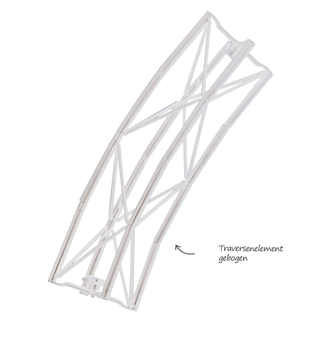 Traversensystem Elemente - gebogen weiß