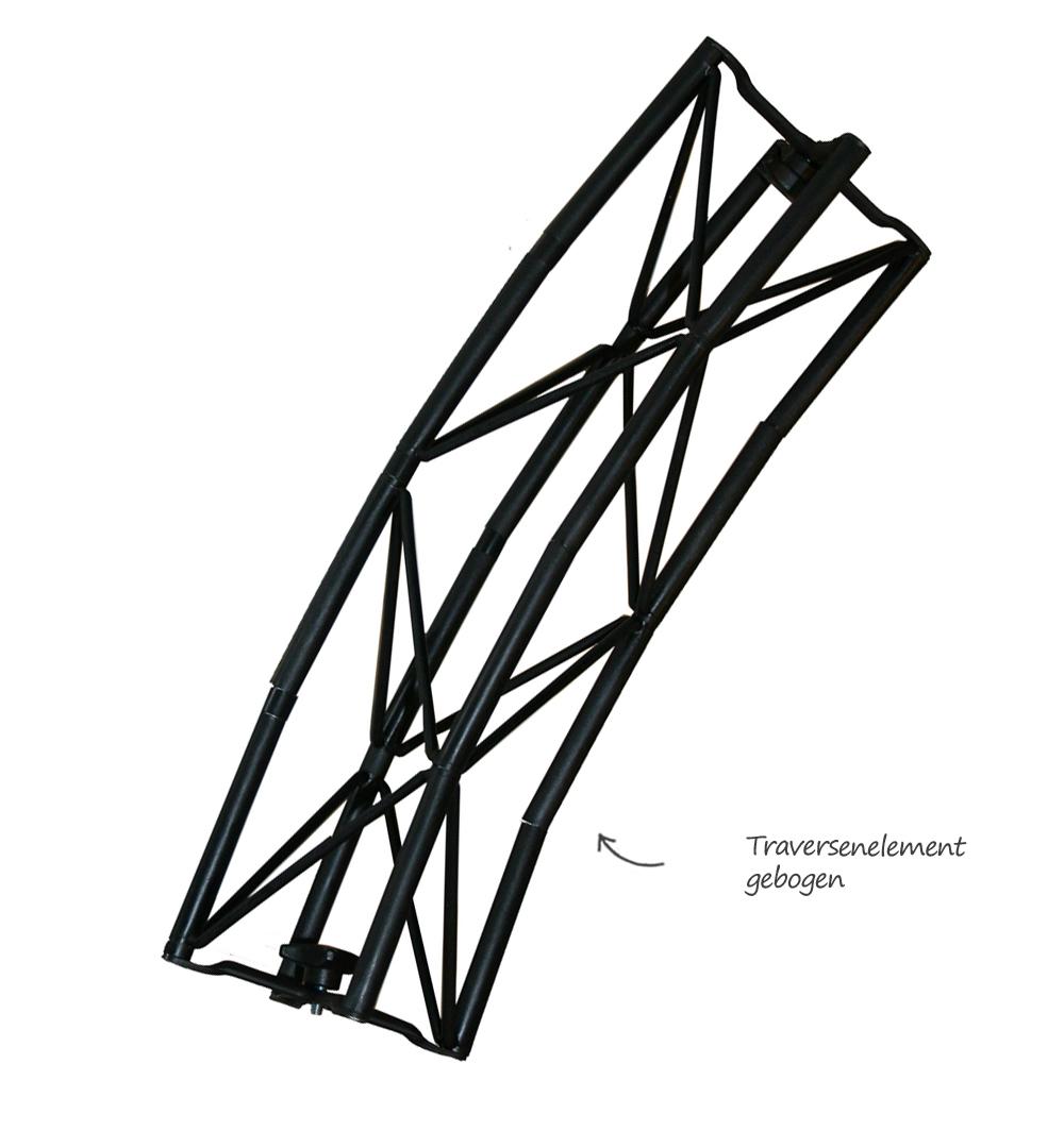 Traversensystem Elemente - gebogen schwarz