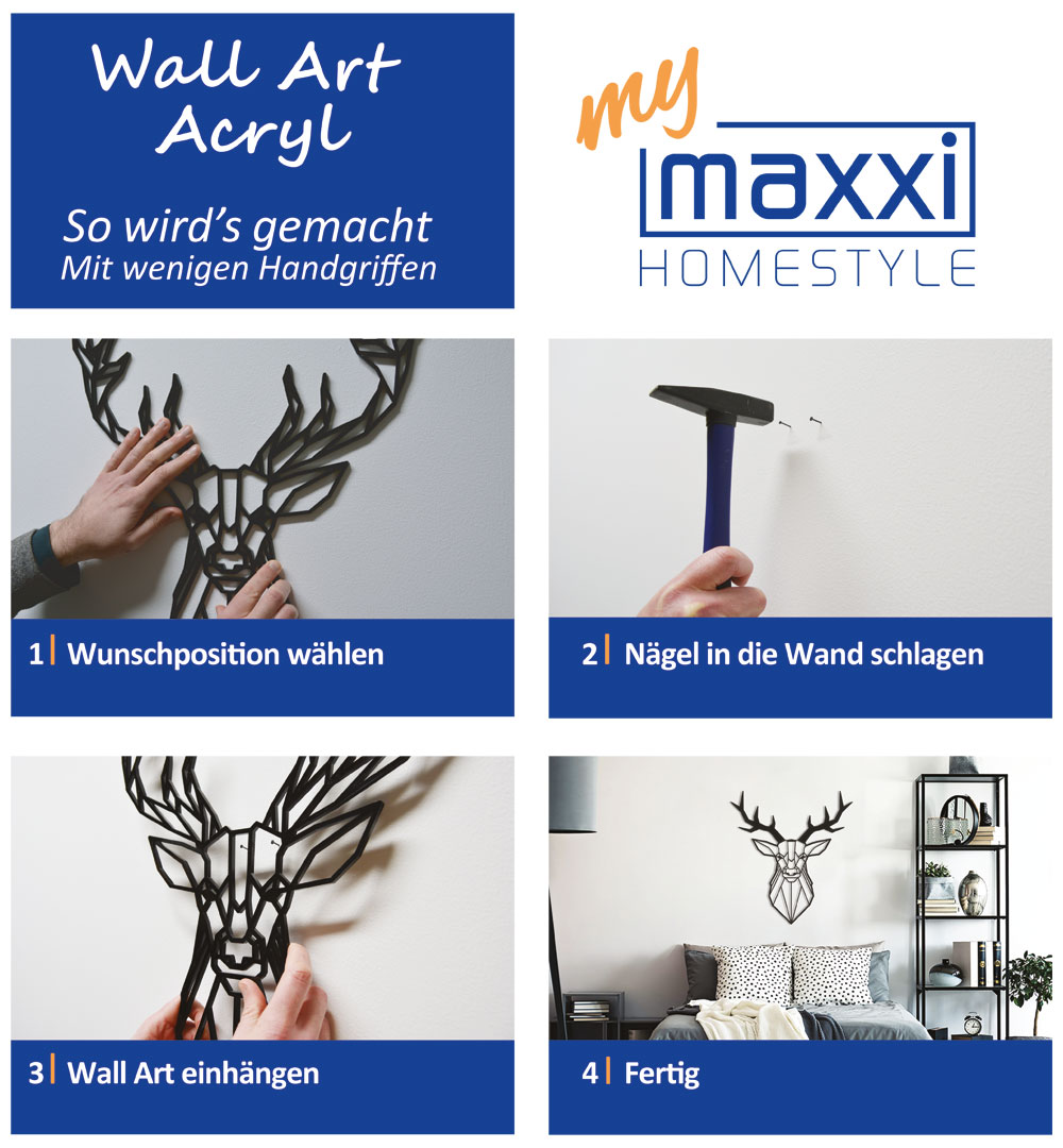 Wall Art Acryl Aufbauanleitung