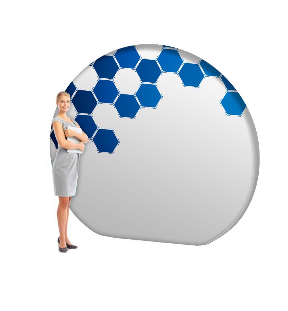 Faltwand Textil Evolution Circle 3D