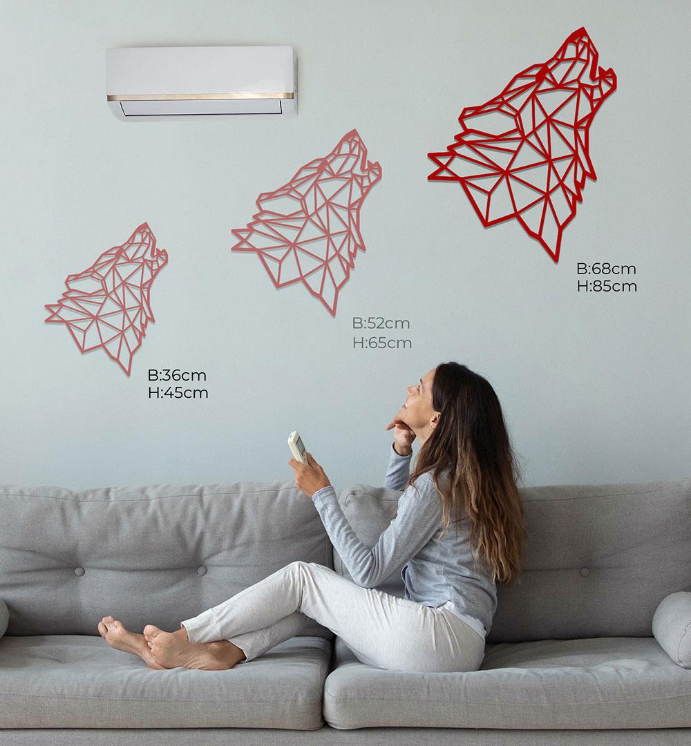 Wall Art Acryl Polygon Wolf Seite
