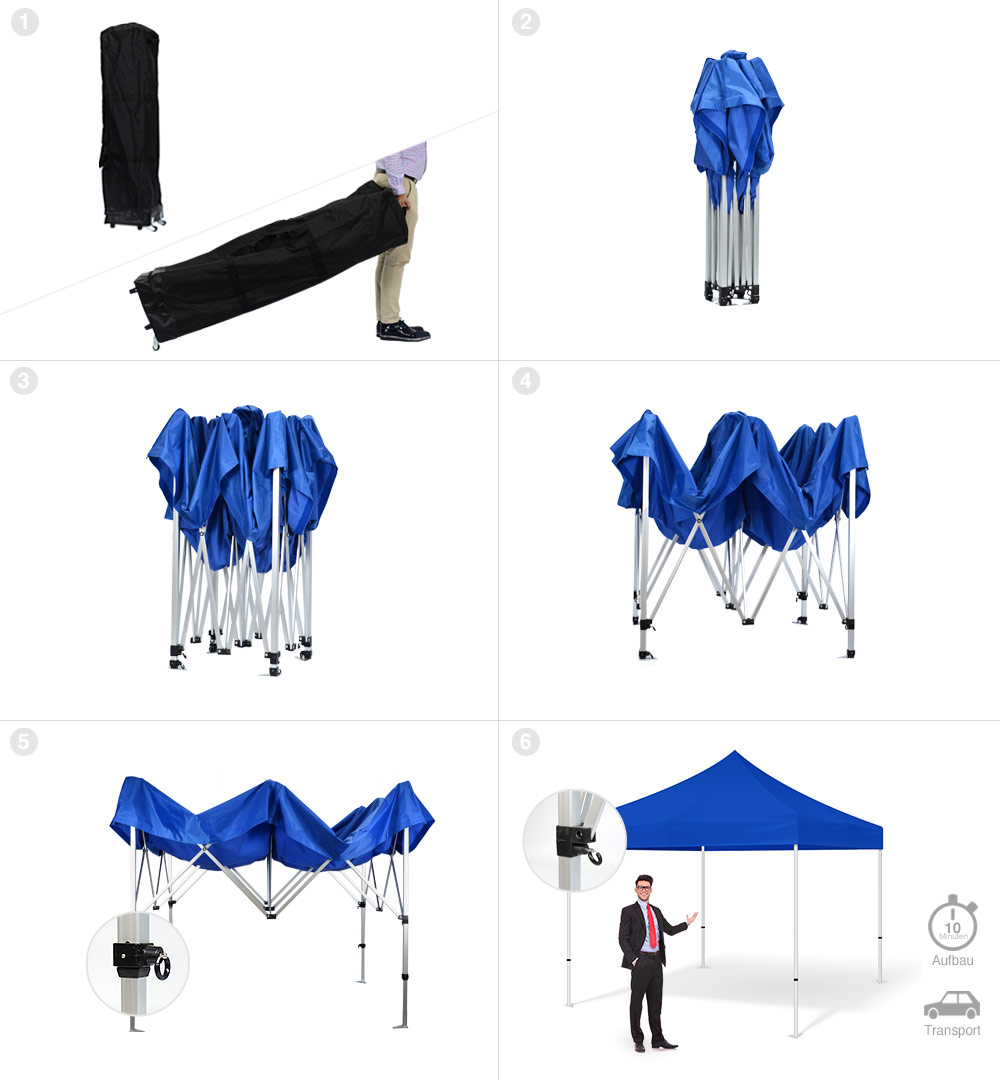 Faltzelt Maxxi Tent 3x3m - Aufbau