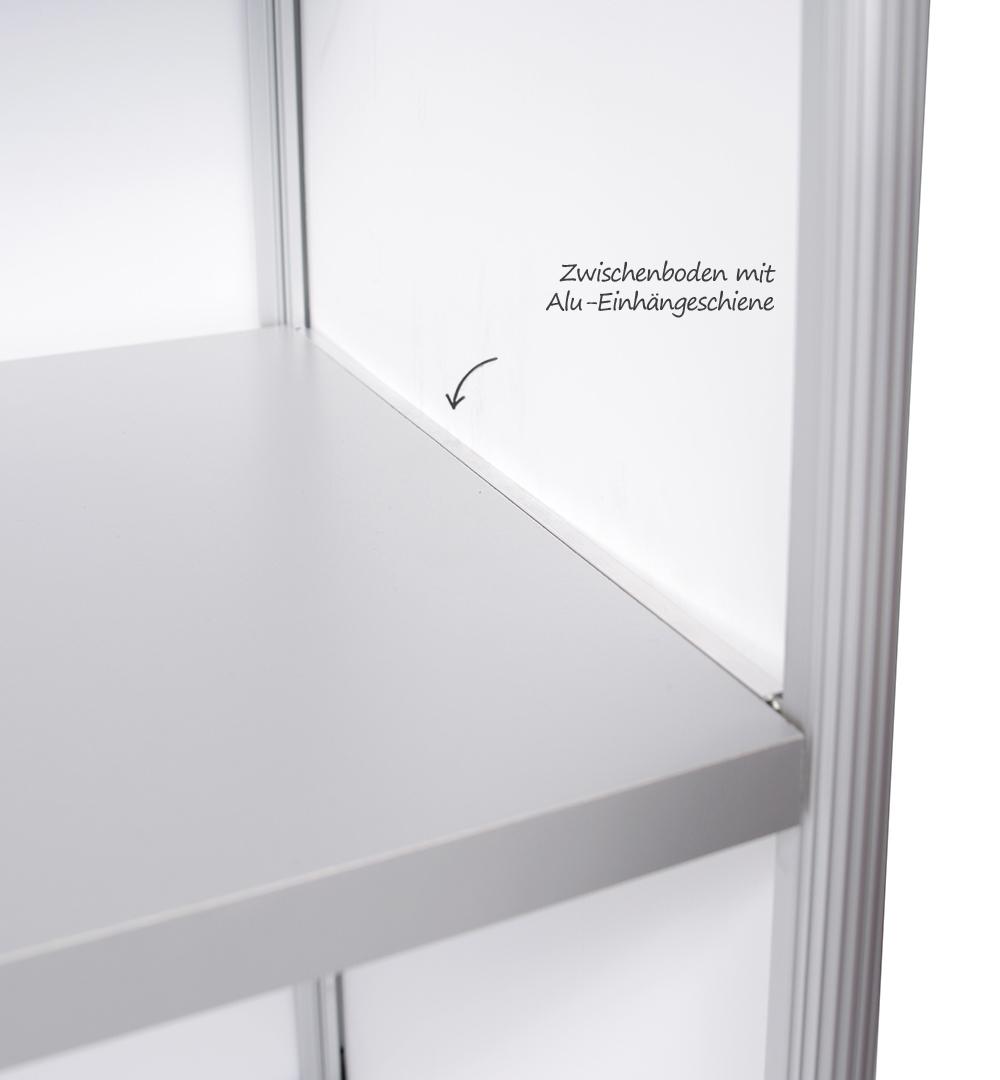 Rechtecktheke geteilt - Zwischenboden
